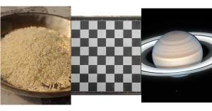 Rice Grains, A Chessboard, and Rings Around Saturn