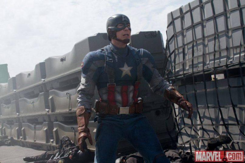 Chris Evans as Steve Rogers in 'Captain America: The Winter Soldier'