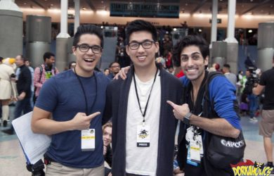 ismahawk's Jeremy Le and Danny Shepherd take a picture with Chris Im. Photo by Neil Bui.