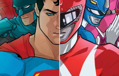 """Cover of """"Justice League/Power Rangers"""" #1."""