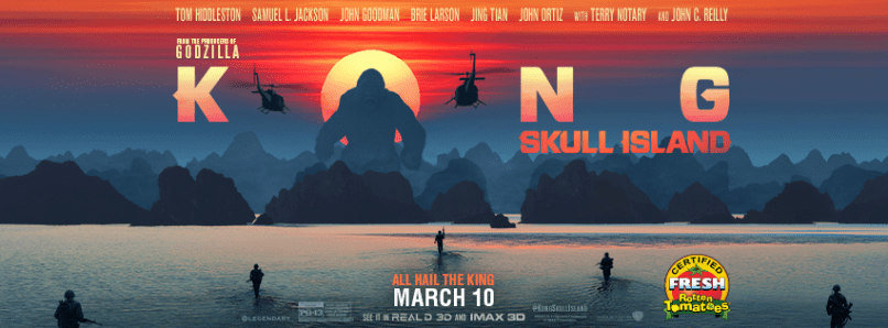 Promotional image for 'Kong: Skull Island' (2017).