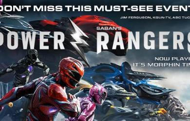 The Power Rangers movie is currently out in theaters.