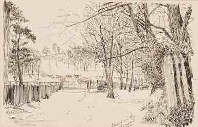 WH Dinnage, Snow on Nower