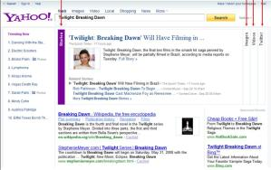 New Yahoo Search - Twilight-Breaking Dawn