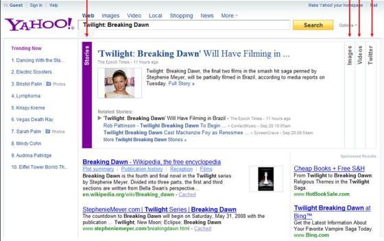 New Yahoo Search - Twilight-Breaking Dawn