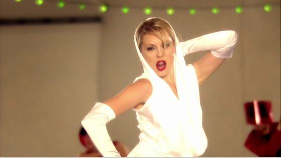 """Kelly Adams as Kylie Minogue (""""Hustle"""")"""