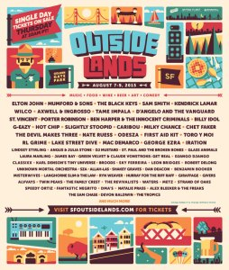 Outside Lands Festival 2015 Poster