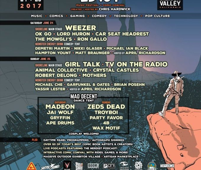 ID10T Music Festival and Comic Conival 2017 Poster