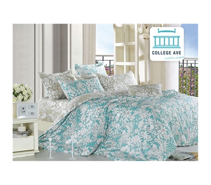 Ashen Teal Twin XL Comforter Set College Ave Designer Series Dorm Bedding For College Students