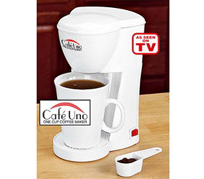Cafe Uno One Cup Coffee Brewer Compact Dorm Coffee Maker