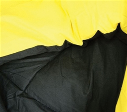 The Black Yellow Reversible College Comforter Twin Xl