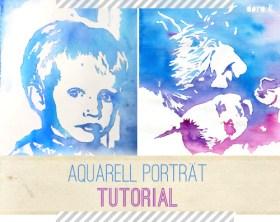 So kannst auch Du ein Aquarell Porträt malen