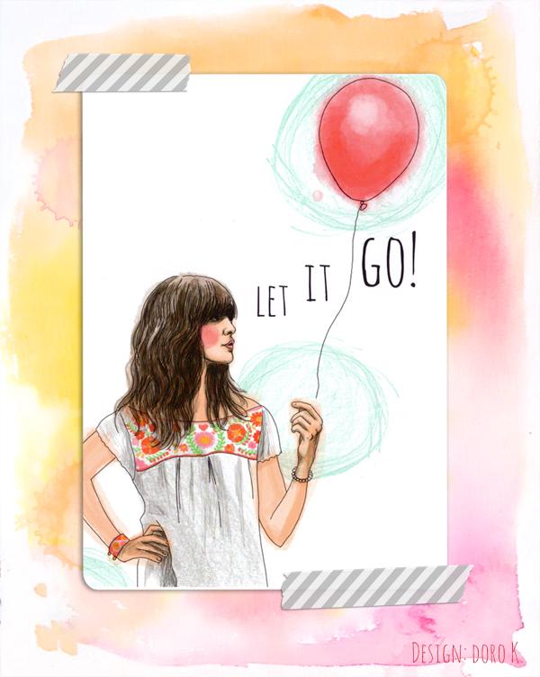 "Postkarte/ post card ""Let It Go"""