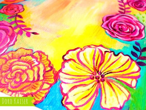 Blumen Acryl