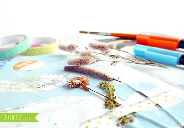 DIY für den Urlaub : Tipps und Ideen, wie Du ganz einfach ein tolles Reisetagebuch basteln kannst | www.dorokaiser.online.de