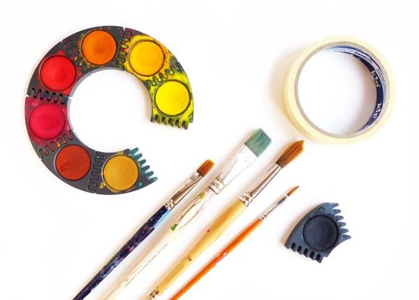 Malen mit Kindern: herbstlicher Wald mit Birken - Material