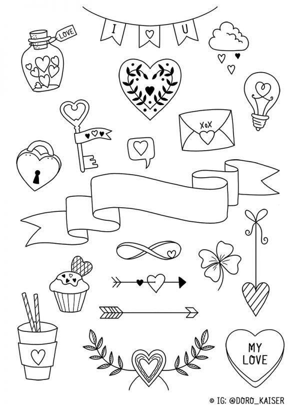 Doodle Vorlage