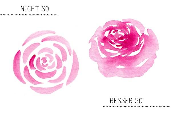Aquarell Blumen Tipps Rose