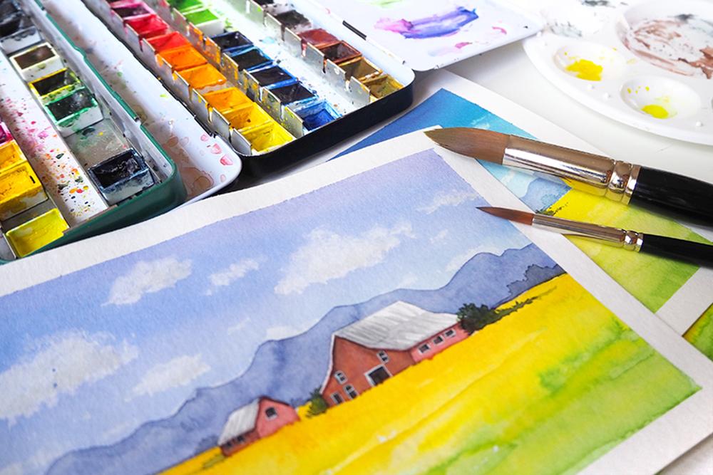 Landschaft malen