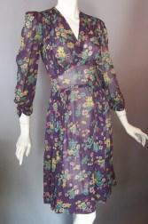 40s dress sheer floral