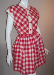 rockabilly dress gingham dress pin up dress