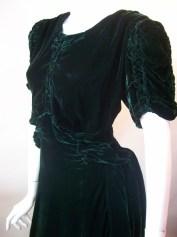 30s dress vintage dress silk velvet