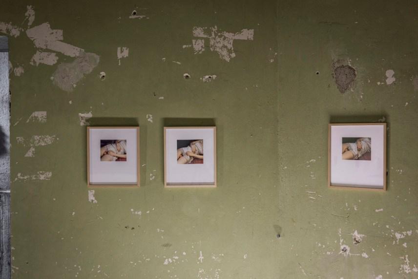 """secret #1-3, Ausstellungsansicht REGIONALE 16, """"Lebenswerke"""", E-WERK Freiburg, 2015"""
