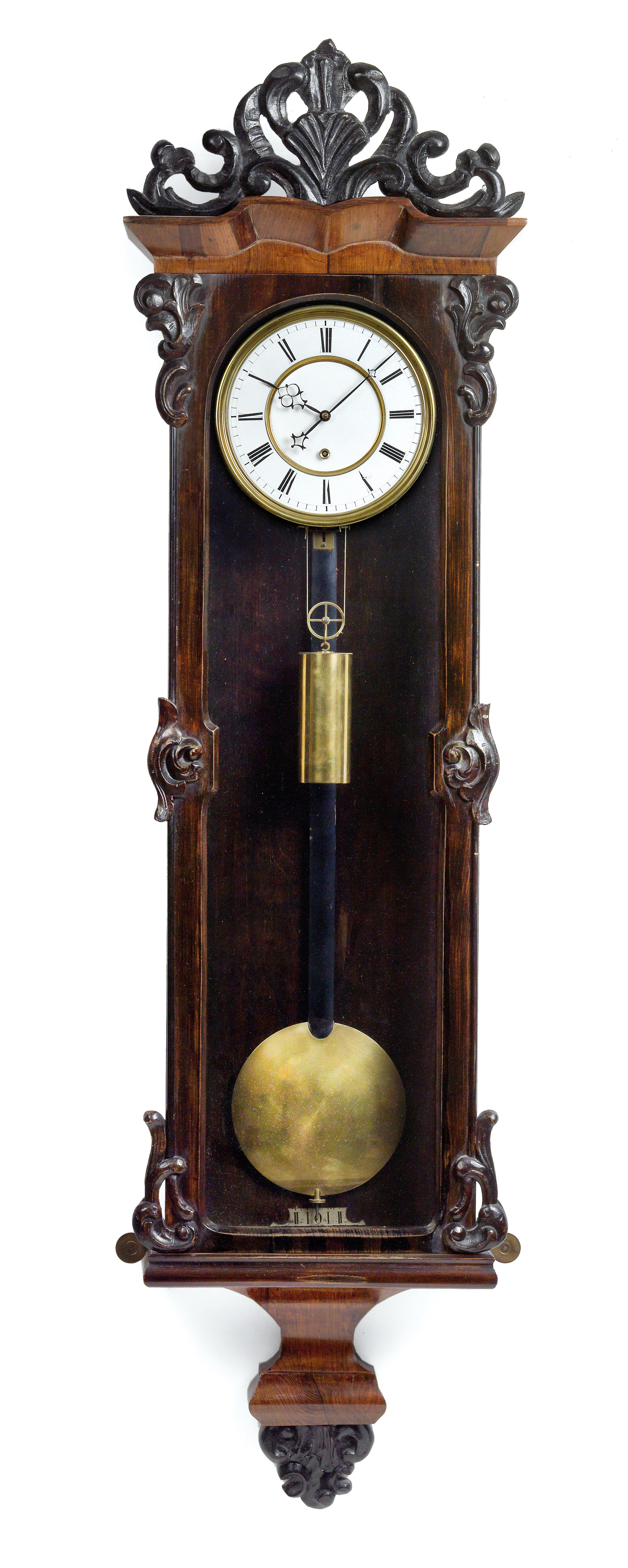 A Historism Period Wall Pendulum Clock With 1 Month Power