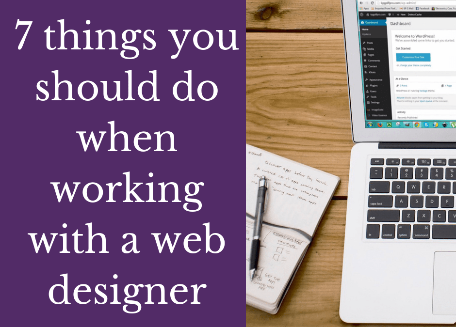 7 things you should do when working with a web designer