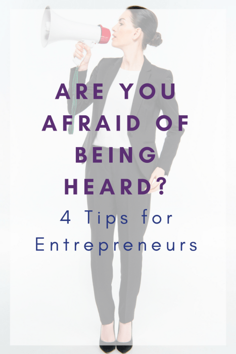 Are you afraid of being heard_