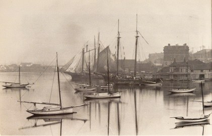 Victoria yacht club Dorothy moored in front-A Century of Sailing