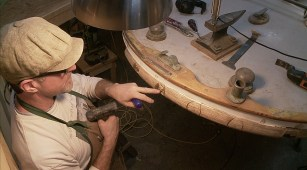 Rubrail pointing out fastenings