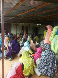 Camp meeting, Djabal Refugee Camp, 5