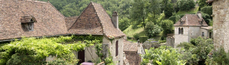 Saint-Cirq-Lapopie Lot Frankrijk dorp
