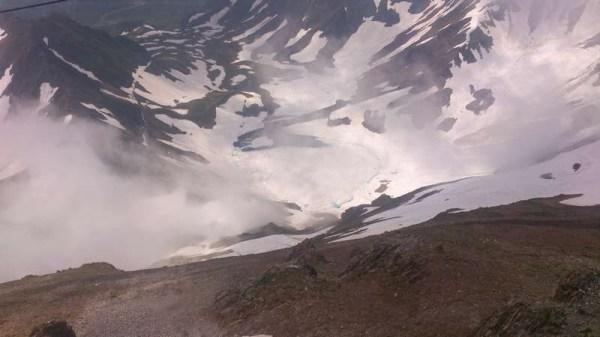 Uitzicht op de bergen vanaf Pic du Midi du Bigorre