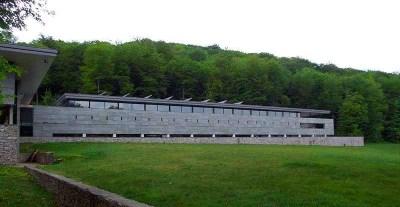 Museum van de Keltische cultuur op Mont Beuvray in Bourgondië Frankrijk