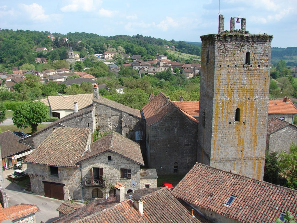 Cardaillac-Dorp-Frankrijk-Lot-toren-tour-de-Sagnes-uitzicht-dorp