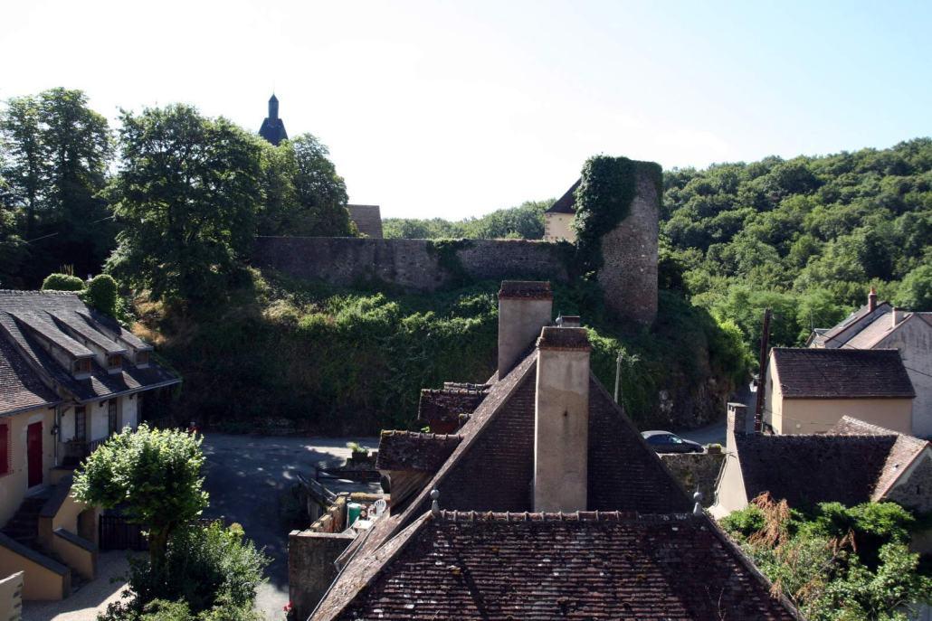 Het kasteel in het dorp Gargilesse-Dampierre in de Limousin Frankrijk