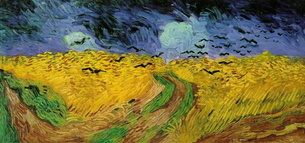 Schilderij Korenveld met kraaien van Vincent van Gogh