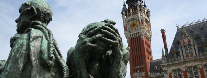 Burgers van Calais beeld van Rodin in Calais
