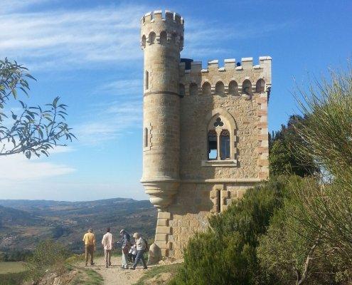 De Tour Magdala van het kasteel van Rennes-le-Château in Frankrijk