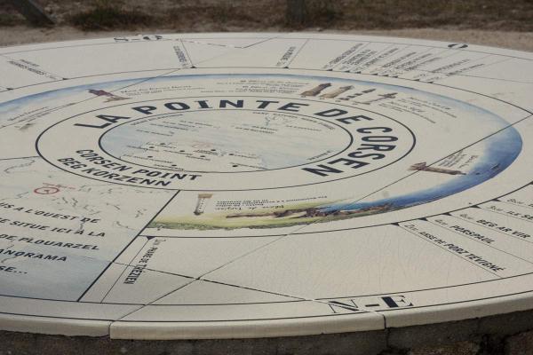 De oriëntatietafel bij Pointe de Corsen