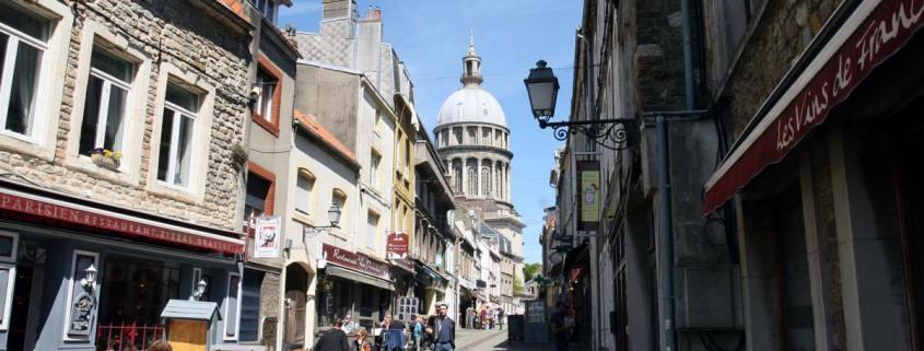 Straat in het oude deel van Boulogne-sur-Mer