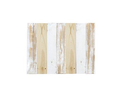 Decowood Tête de lit Décapée Effet vieilli Bois 90 x 80 x 3 cm blanc