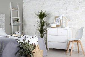 Fiors Commode – Bois – 89x40x82 cm – Couleur Blanc Snow