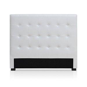 Intense Déco – Tête de lit capitonnée Premium 140cm Blanc
