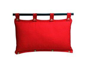 Sady's Trading Magnum Tête de Lit DEHOUSSABLE Coton 45 x 70 cm Rouge