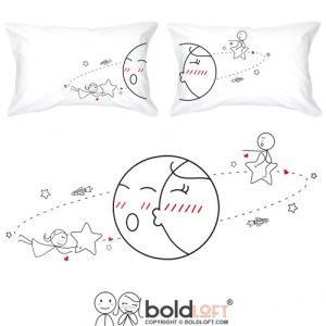 Boldloft vous êtes My World Couple Pillowcases-his et cadeaux de couple pour les couples, mignon de Saint-Valentin cadeaux pour lui pour elle, romantique anniversaire cadeaux pour Boyfriend pour petite amie
