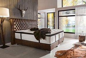 Schlichter Möbel Anneau de meubles boxsp Lit Baron Deluxe, marron, 200 x 200 cm