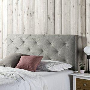 Tête de lit Milano 160X60, losanges en tissu gris, 8 cm d'épaisseur
